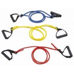 Violet elastic tubing with handles