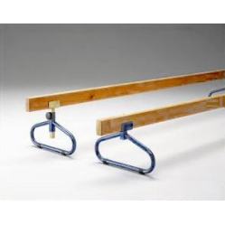 Balance beam with adjustable height