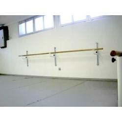 Wall bracket for ballet bars