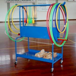 Gymnastics storage trolley