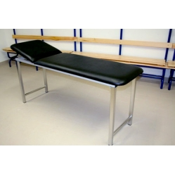 Examination bed in zinced steel