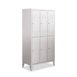 Metal locker with 3 superimposed units