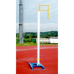 Pair of pole vault uprights I.A.A.F. approved
