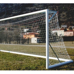 Aluminum football goals 7.32x2.44 m, TUV CERTIFICATE ACCORDING TO UNI EN 748