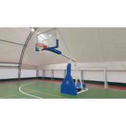 Impianto basket oleodinamico elettrico certificato FIBA sbalzo cm.230, sbalzo cm.230