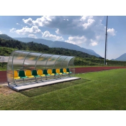 Panchina allenatori lunghezza m.6