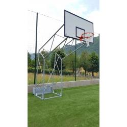Impianto basket a traliccio zavorabile