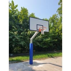 Impianto basket  monotubolare sbalzo 165 cm