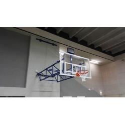 Impianto basket a parete sollevabile