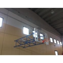 Impianto basket a parete fisso sbalzo 320 cm