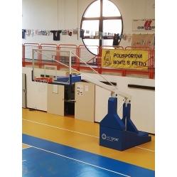 Impianto basket oleodinamico manuale sbalzo 330 cm