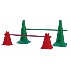 Set ostacoli con coni altezza 50 cm