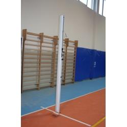 Impianto pallavolo monotubolare in alluminio con bussole