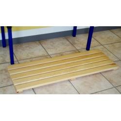 Pedana poggiapiedi in legno da 1 m