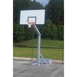 Impianto basket monotubolare trasportabile
