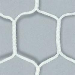 Coppia reti per porte da calcio maglia extra esagonale, dim.m.7,50x2,50