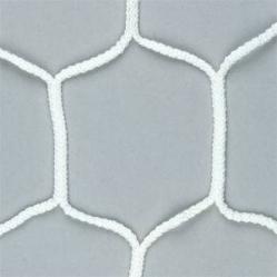 Coppia reti per porte da calcio maglia esagonale, dim. 7,50x2,50 m