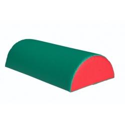 Cuscino gommapiuma a semi-cilindro dim. 50x25 cm