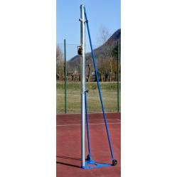 Coppia impianto pallavolo a traliccio in acciaio vernicato/zincato trasportabile