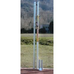 Impianto pallavolo in acciaio zincato mm.70 con bussole