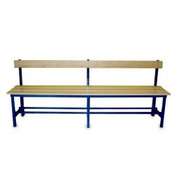 Panchina spogliatoi seduta e schienale m.2
