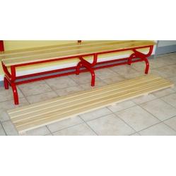 Pedana poggiapiedi in legno da 2 m