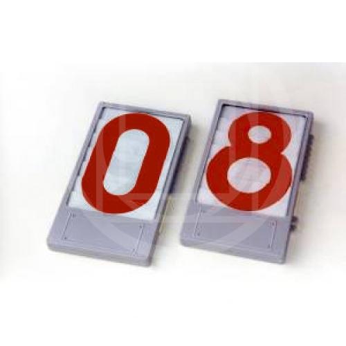 Tabella numerica rossa per pallacanestro