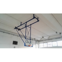 Impianto basket sollevabile a soffitto approvato FIBA