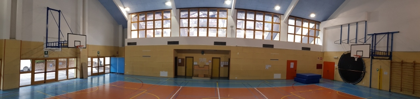 Basketballanlage Tesero Turnhalle