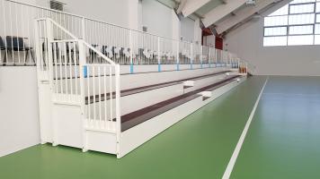 Fixe Innen-Tribune für Miane Sporthalle-2