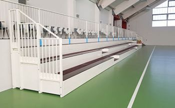 Fixed indoor grandstand for Miane Palasport
