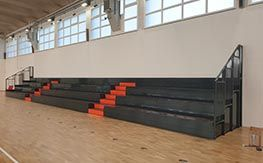 Installation of fixed grandstand for interiors