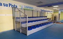 Fixed grandstand for interiors
