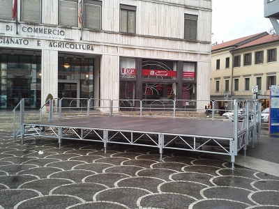 Palco per manifestazioni a Treviso