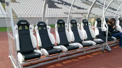 Panchine Stadio Partizan Belgrado