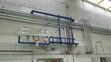 Impianto Basket a parete Palestra Comunale di Muzzana