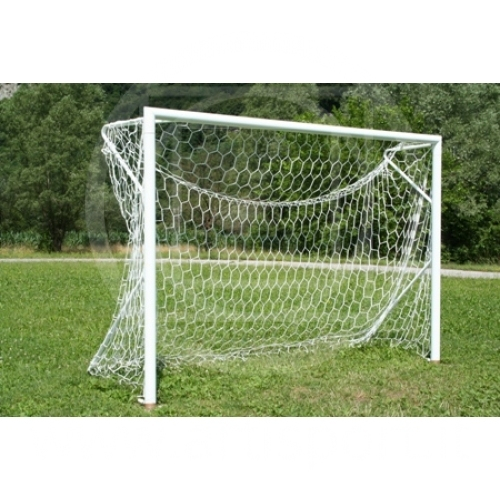 pair transportable futsal goals with ground sleeves m.3x2