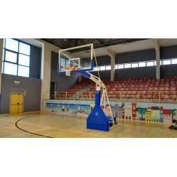 Electrical oil-pressure basketball system, FIBA approved. Overhang cm.230