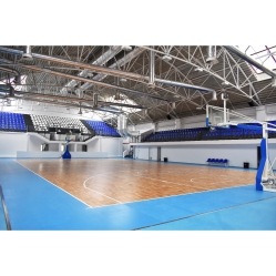 Manual oil-hydraulic basketball system FIBA approved, overhang cm.230