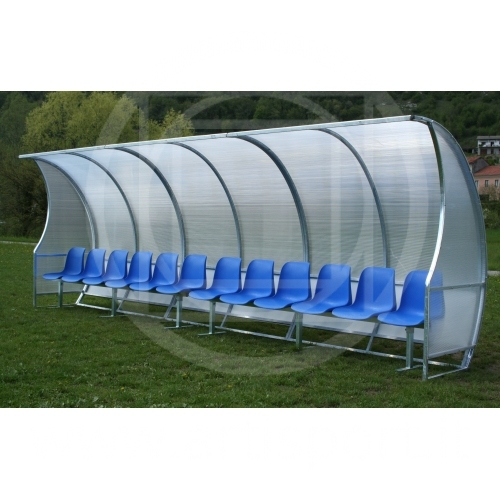Covered Football Bench