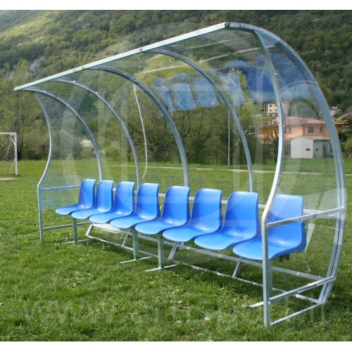 Soccer Field Equipment Covered Bench For Coaches And Players