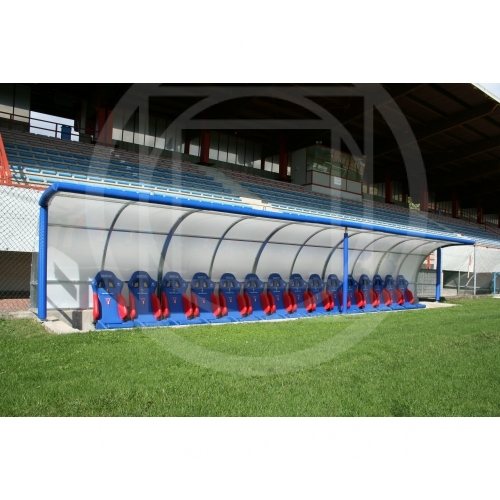 Football Substitutes Bench With Leather Seats