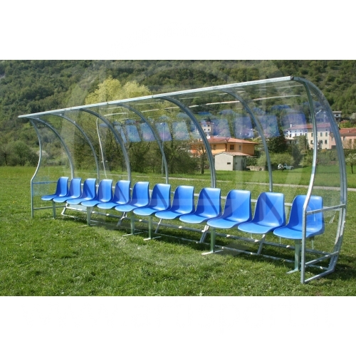 Soccer Field Equipment Covered Coach Bench