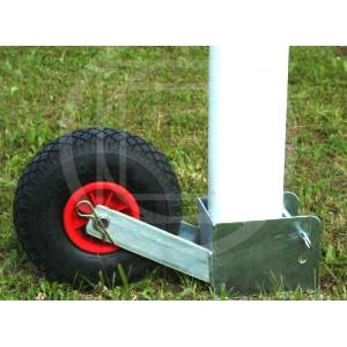 Moving device for football goals