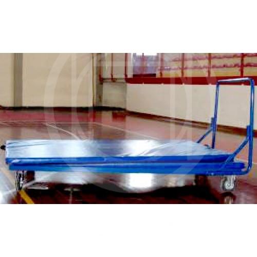 Mat transport trolley