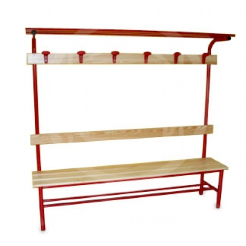 Changing Room Bench With Coat Rack And Shoe Rack