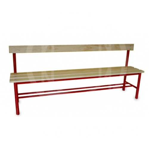 dressing room bench bench with backrest