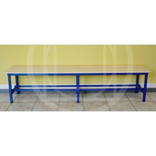 Locker Room Bench Pine Wood Seating Steel Structure